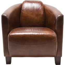 Kare Design Fauteuil Cigar Lounge - Leer - Bruin