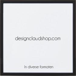 Aluminium wissellijst - Fotolijst - Facetrandje - Mat zwart - 60x90 cm