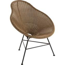 Pear vintage - Fauteuil - peer vormig - bruin - plastiek - metalen frame