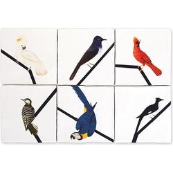 Storytiles Selected Set Siertegel Keramiek Bird Lines - 10 x 10 cm