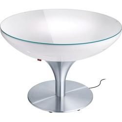 Moree - Ronde Salontafel Lounge - Hoogte 55 Cm LED Pro - Wit