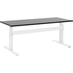 Bureau zwart/wit 160x70 cm elektrisch in hoogte verstelbaar UPLIFT