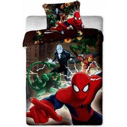 Spiderman Dekbedovertrek Bruin - Dekbedovertrek - 140 x 200 cm - Multi