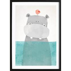 Nijlpaardje Poster (50x70cm)
