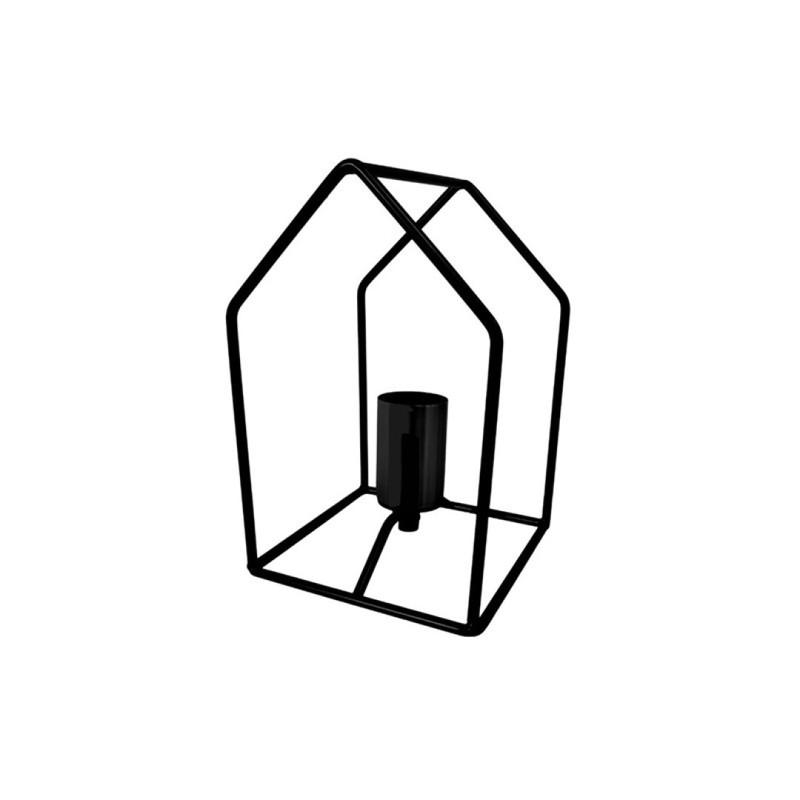 Tafellamp huisje zwart -