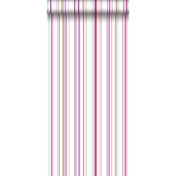ESTAhome behang strepen multicolor op wit