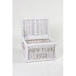 Rieten opbergkist New York White ed.