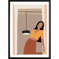 Abstract Girl Art Poster 2 (21x29,7cm)