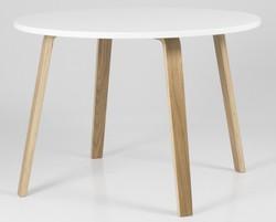 Tenzo ronde eettafel dine Ø h cm wit houten tafelblad