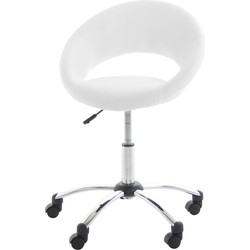 24Designs Verstelbare Bureaustoel Speedy - Wieltjes - Wit