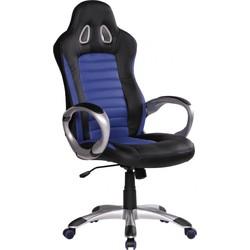 24Designs Racer2 Bureaustoel & Gamestoel - Kunstleer - Zwart/Blauw