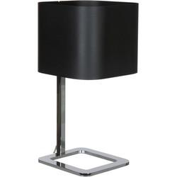 Linea Verdace Tafellamp Quadro - H48 Cm - Zwart/Chroom