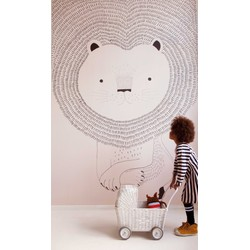 Leeuw roze kinderbehang Studio Claas