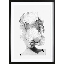 Girl Smoking Abstract Poster (21x29,7cm)