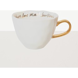 Urban Nature Culture Good morning cup white with gold text inside