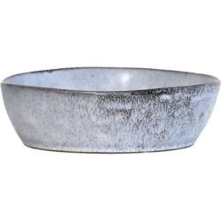 HK-living schaal licht grijs rustiek medium keramiek 19x19x5,2cm