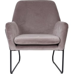 Fauteuil Finda - Taupe velours