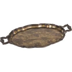 Alu Brass Tray - 52.0 x 34.0 x 3.5 cm