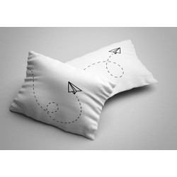 Nightlife - Kussensloop - Paper Plane (2 stuks) - Katoen