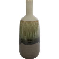 """Vaas fles """"Elisabeth"""" S aardewerk 12,5x12,5x33,5cm"""