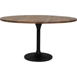Eettafel Ø140x78 cm BIBOCA acacia hout-zwart