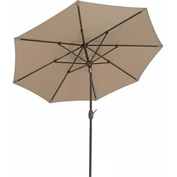 SORARA Lima Parasol  Zand -  230 cm - Slinger- en Knikmechanisme