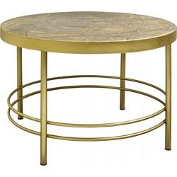 Nordal salontafel rond marmer goud 80cm