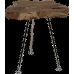 Salontafel Root - ø30-40 cm - oud teak/RVS