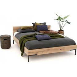 Massief houten  tweepersoons bed Timber  160x200 cm