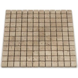 Travertine Light Tumbled 2,3 x 2,3 x 1 cm