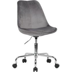 24Designs Bureaustoel Dex Office - Fluweel Grijs