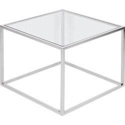 Beistelltisch Jacob - Glas / Edelstahl - Silber