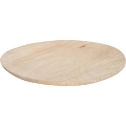 HK-living bord, plate mango hout XL Ø 30-38 cm