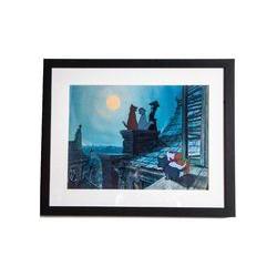 Graham & Brown Blue aristocats film framed print