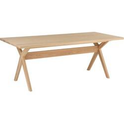 Top Scandinavian - Eettafel - rechthoekig - 200x90cm - massief Noors vurenhout - kruispoten - puur design