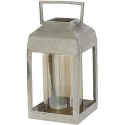 Windlicht 20x20x44 cm MEKONG glas bruin