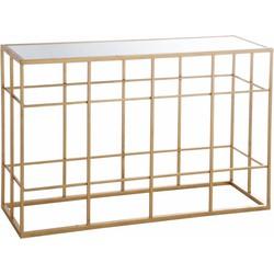 Gold - Sidetable - rechthoekig  - wit glazen blad - metalen frame - goudkleurig