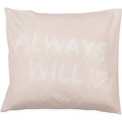 vtwonen Lazy Kussenhoes 'Always Love' 50 x 50 cm - Nude