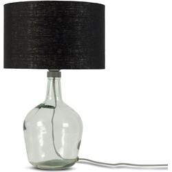 Tafellamp Murano 3220 linnen zwart, S