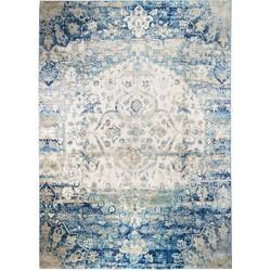 Teppich Sabile - Kunstfaser - Blau / Beige - 133 x 190 cm, Jack and Alice