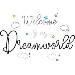 Motief Dreamworld Wandlamp Rechthoekig - Limundo