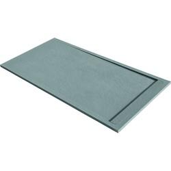 Acquabella Duo Douchevloer Slate 90x120x3 cm Cemento