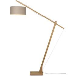 Vloerlamp Montblanc bamboe 4723, linnen donker