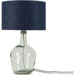 Tafellamp Murano 3220 linnen blue denim, S