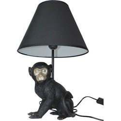 Aap Lamp-17x46cm-Inclusief gloeilamp en lampenkap-Polyresin-Zwart-Housevitamin