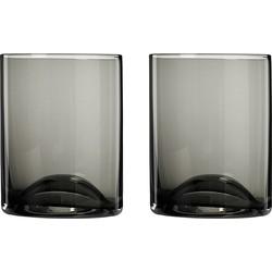 Blomus Wave Glas Set van 2 - Zwart/Transparant