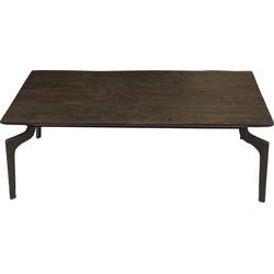 Nordal salontafel rechthoek bruin hout