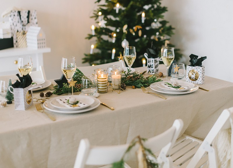 special weihnachtliche tischdekoration alles was du. Black Bedroom Furniture Sets. Home Design Ideas