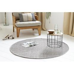 Handgemaakt Wollen Vloerkleed Rond - 150 cm - Grijs - Lifa Living