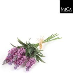 Mica Decorations bosje lavendel met 6 takjes maat in cm: 34 lila